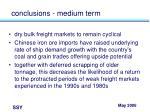 conclusions medium term