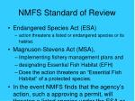nmfs standard of review