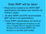 state bmp will be taken
