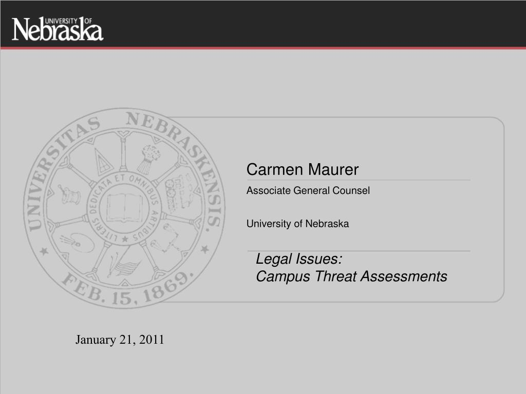 legal issues campus threat assessments l.