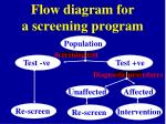 flow diagram for a screening program