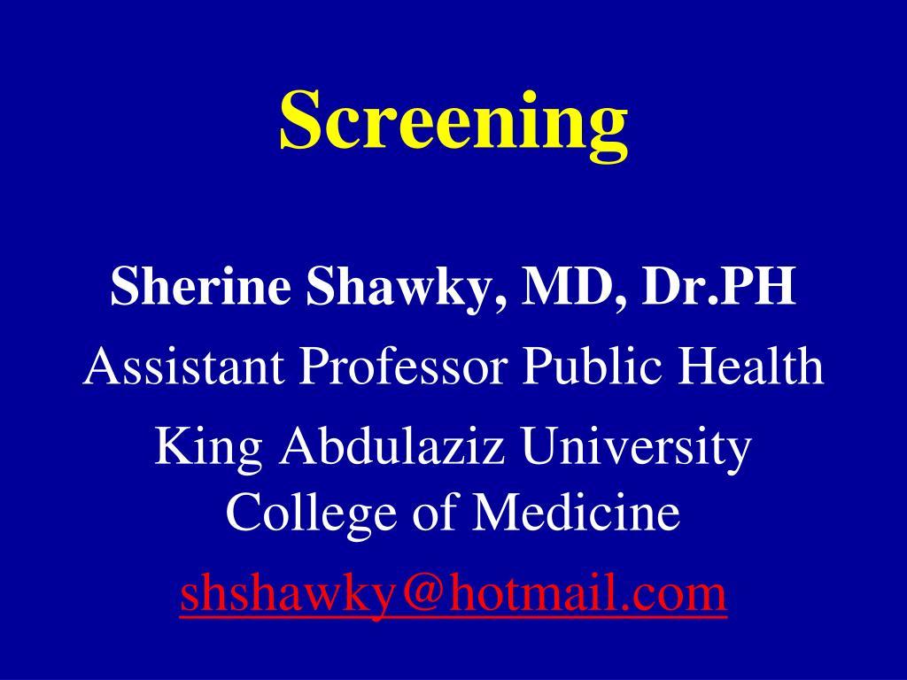 screening l.