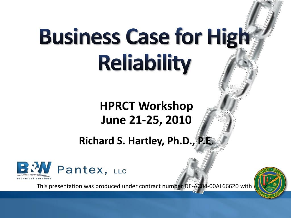 business case for high reliability l.