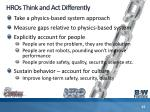 hros think and act differently
