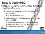 steps to deploy hro22