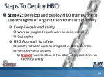 steps to deploy hro28