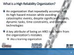 what is a high reliability organization
