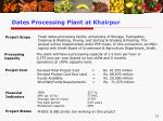 dates processing plant at khairpur