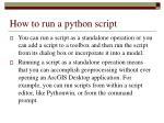 how to run a python script
