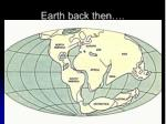 earth back then