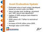 asset evaluation update