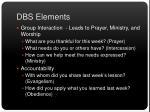 dbs elements