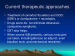 current therapeutic approaches
