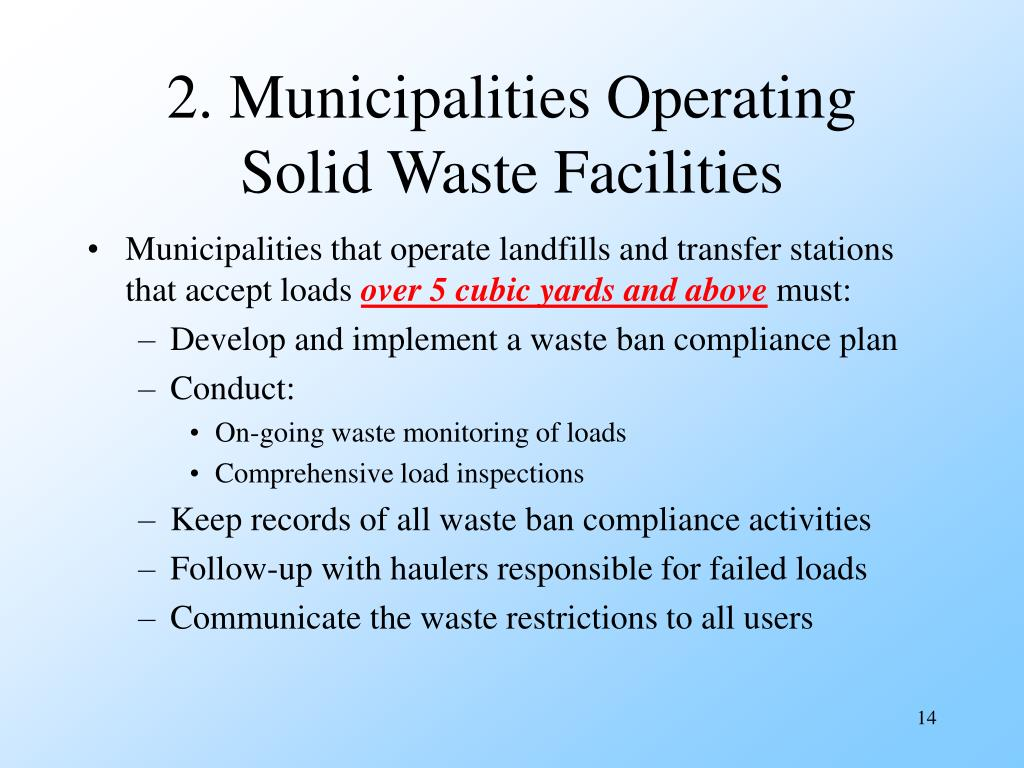 2. Municipalities Operating