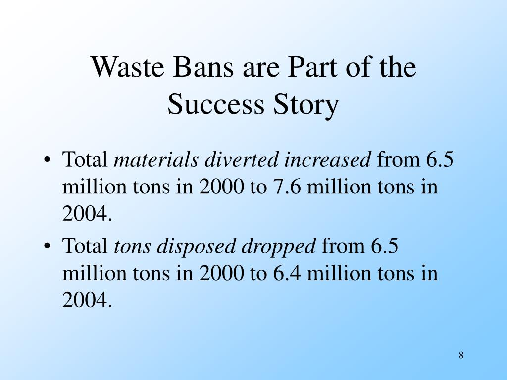 Waste Bans are Part of the Success Story