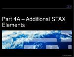 part 4a additional stax elements