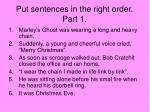 put sentences in the right order part 1