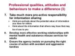 professional qualities attitudes and behaviours to make a difference 3
