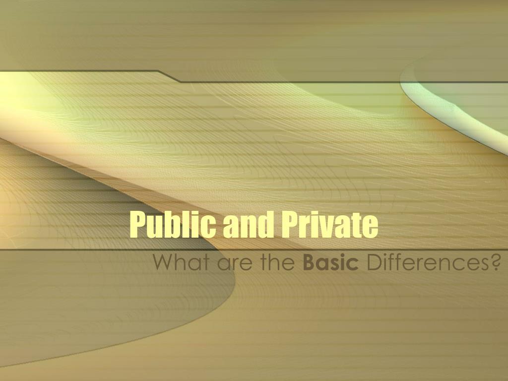 public and private l.