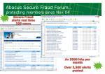 abacus secure fraud forum protecting members since nov 04