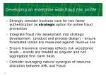 developing an enterprise wide fraud risk profile