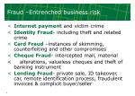 fraud entrenched business risk