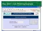 may 2007 cua phishing example