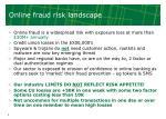 online fraud risk landscape