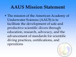 aaus mission statement