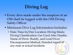 diving log