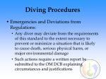 diving procedures66