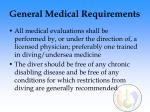 general medical requirements113