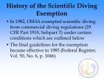 history of the scientific diving exemption
