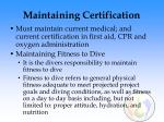 maintaining certification108
