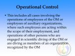 operational control31