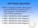 self study questions128