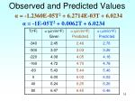 observed and predicted values16