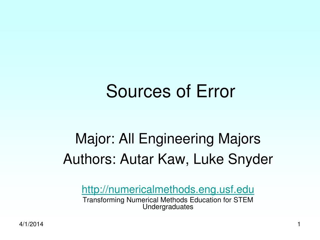 sources of error l.