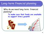 long term financial planning