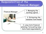 responsibilities of the financial manager