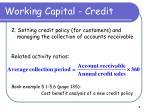 working capital credit