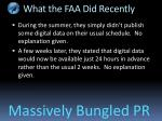 what the faa did recently
