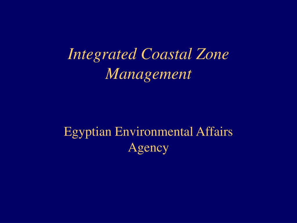 integrated coastal zone management l.