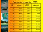 economic projection 2005