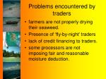 problems encountered by traders