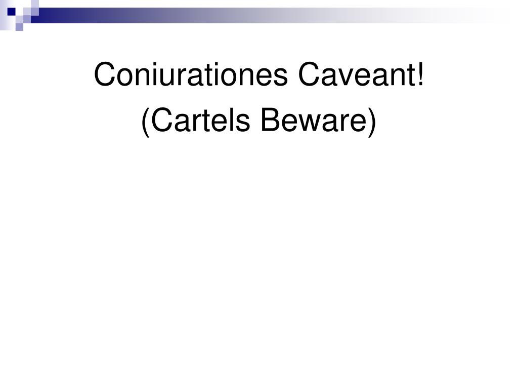 Coniurationes Caveant!