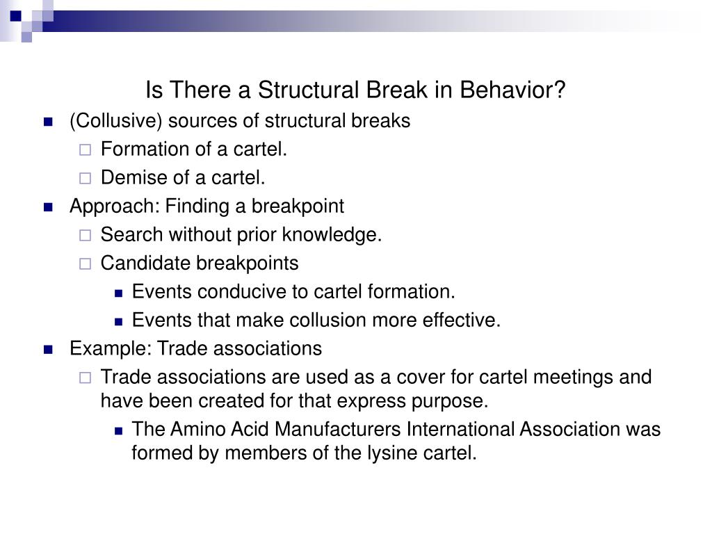 Is There a Structural Break in Behavior?