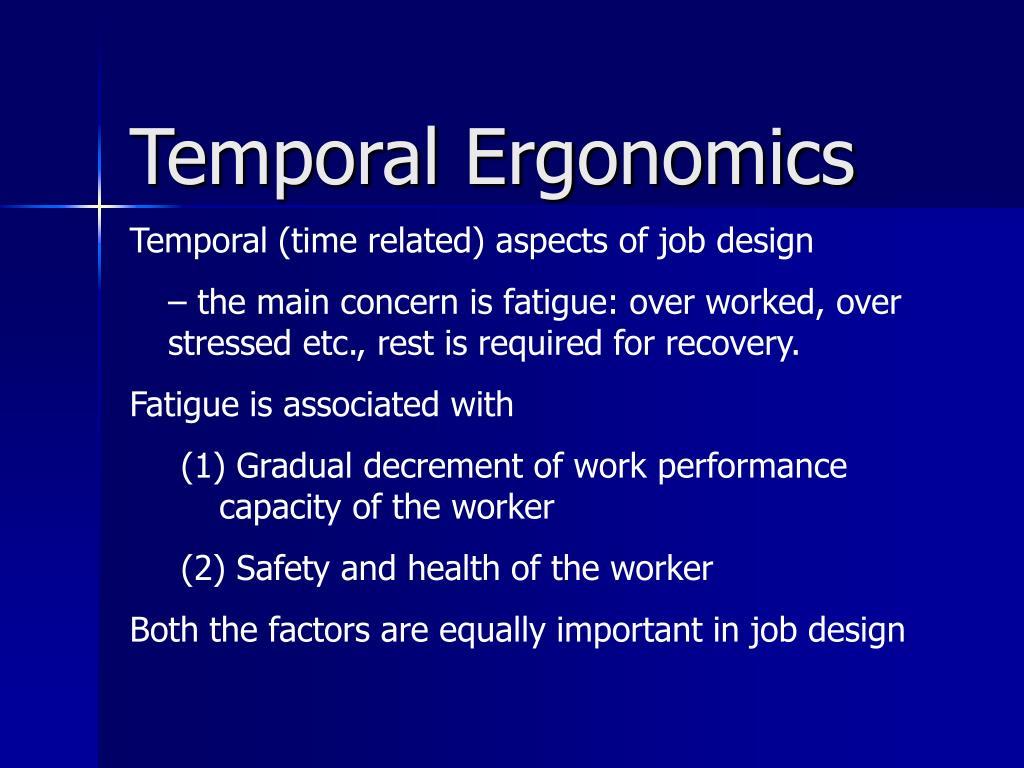 temporal ergonomics l.