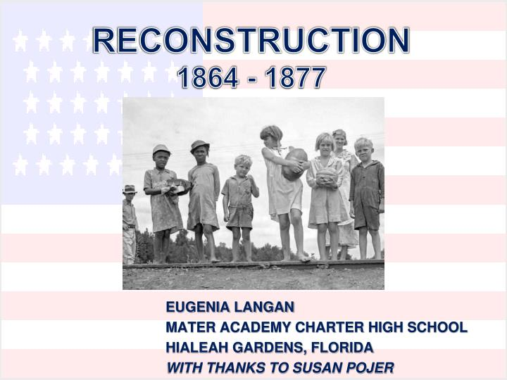 reconstruction 1864 1877 n.