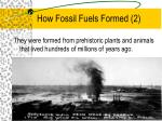 how fossil fuels formed 2